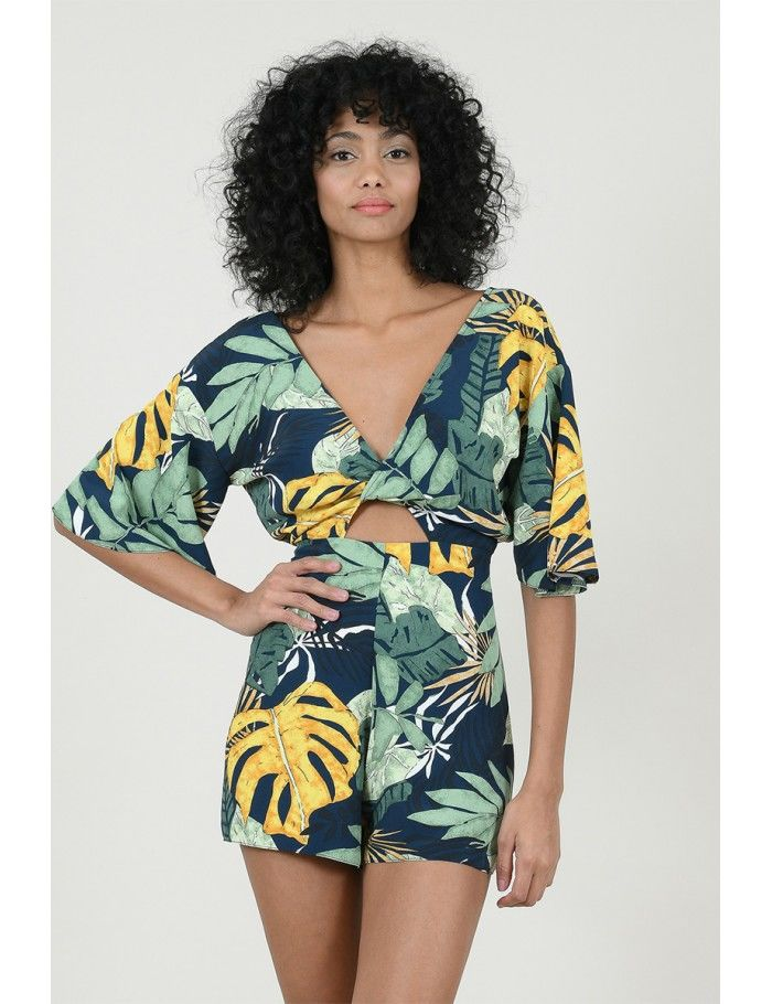 MONO ESTAMPADO TROPICAL FLORAL M