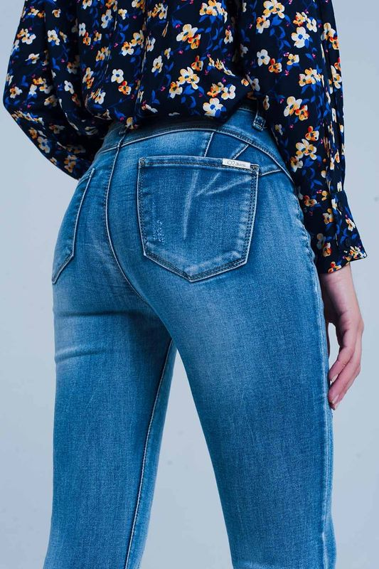 Jeans tiro alto efecto push up M
